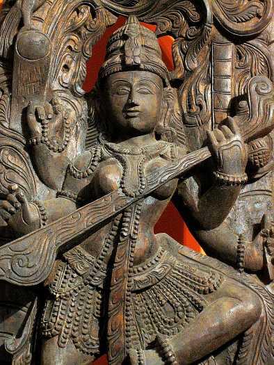 Znalezione obrazy dla zapytania saraswati bogini
