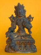 Figurka bóstwa, Nepal, XIX w., fot. A. Sułkowski