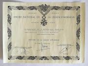 Dyplom orderu Legii Honorowej kard. Adama kozłowieckiego SJ, fot.A.Sułkowski