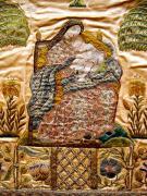 Matka Boska z Dzieciątkiem, fragment velum, haft, 1 poł. XVIII w., fot. A. Sułkowski