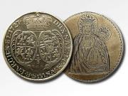 2/3 talara Augusta II Wettyna (awers - zastąpiony wizerunkiem Matki Boskiej Częstochowskiej), 1727 r., fot. A. Sułkowski