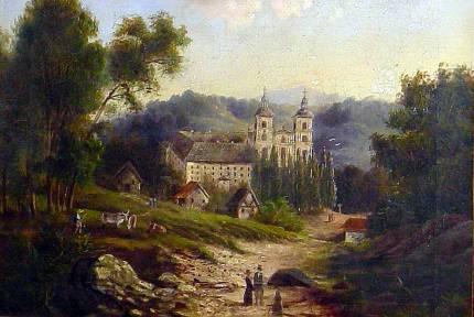 Widok klasztoru w Starej Wsi, 1863r., fot.A.Sułkowski